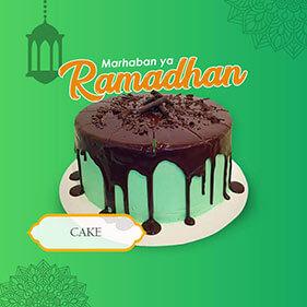 Mini Banner Cake Ramadhan